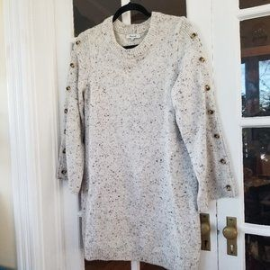 Madewell - Wool Sweater Dress - Button Sleeve